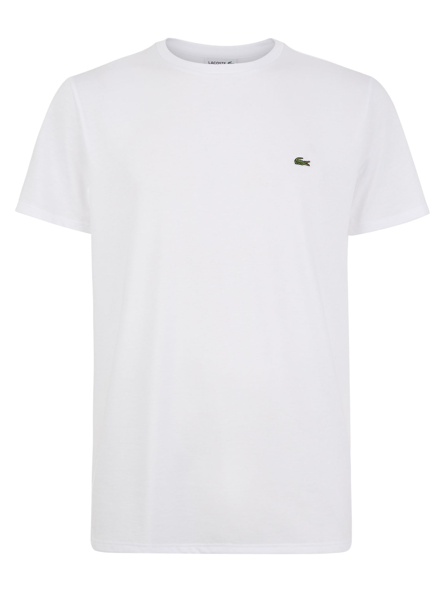 Men's Lacoste Crew Neck Cotton T-shirt, Washed White