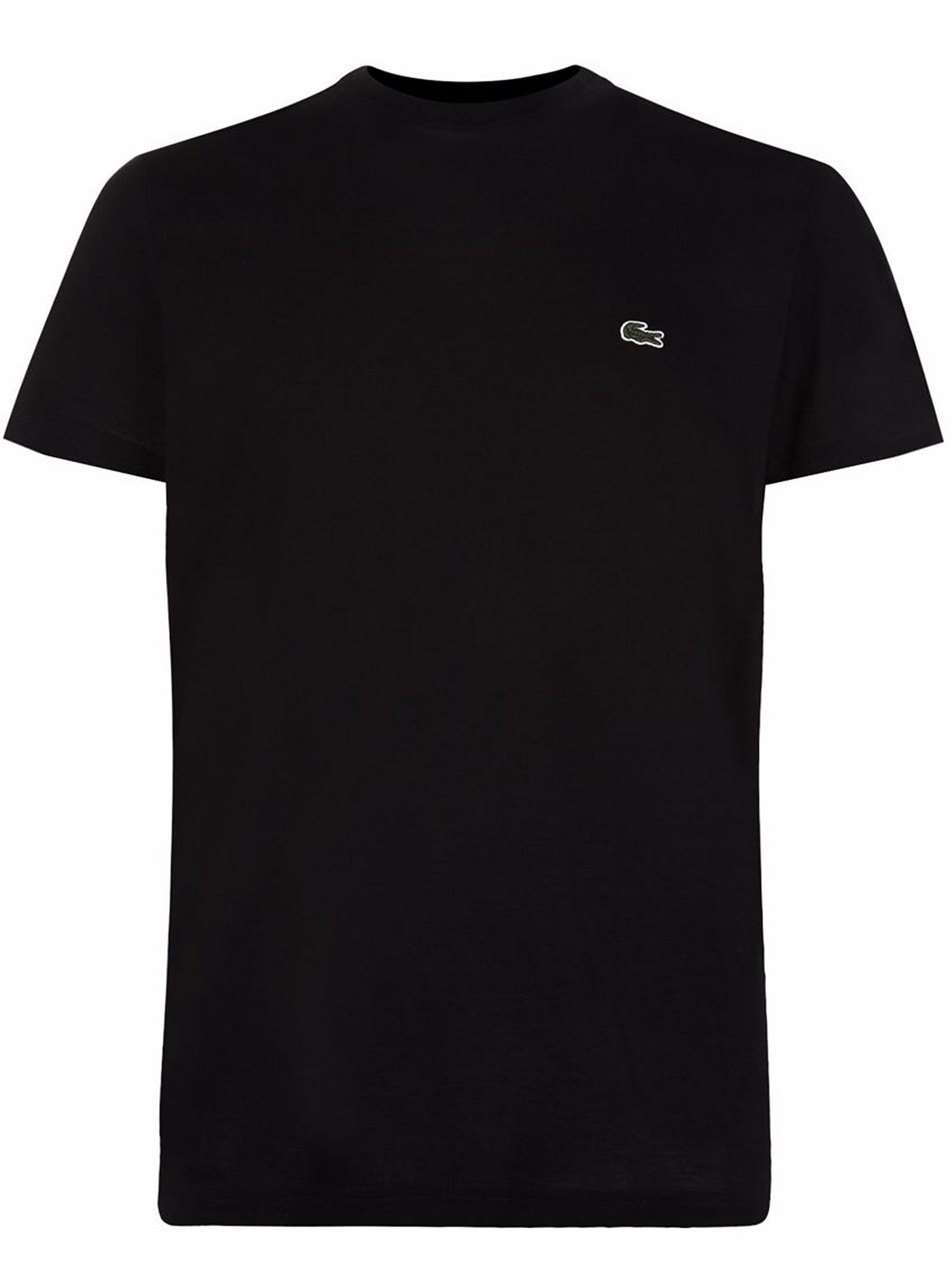 Men's Lacoste Crew Neck Cotton T-shirt, Black