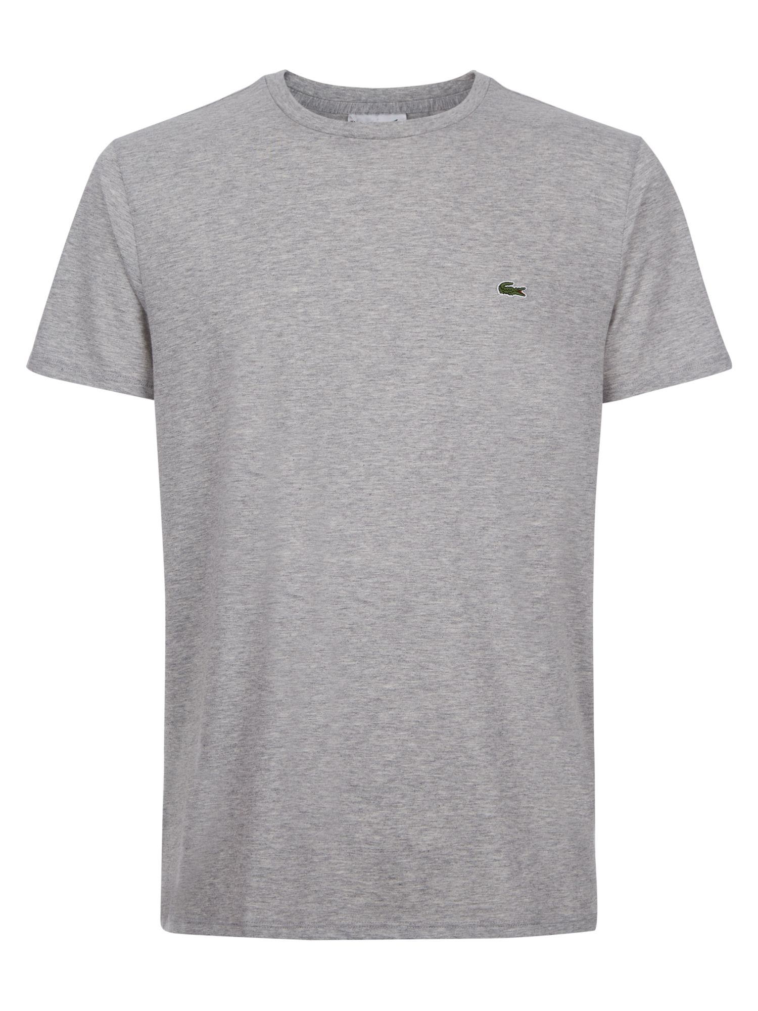 Men's Lacoste Crew Neck Cotton T-shirt, Silver Chine