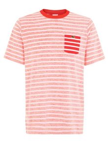 Stripe Crew Neck Slim Fit T-Shirt