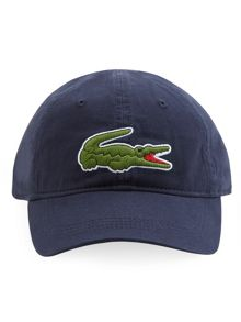 Lacoste Gabardine cap with oversized crocodile