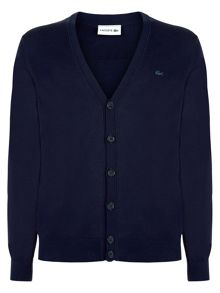 Lacoste Cotton Jersey Cardigan