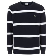 Stripe Crew Neck Pull Over