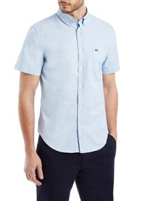 Plain Short Sleeve Button Down Shirt