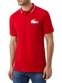 Striped Collar Slim Fit Polo