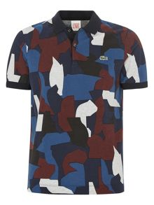 Colour Patch Print Polo Shirt