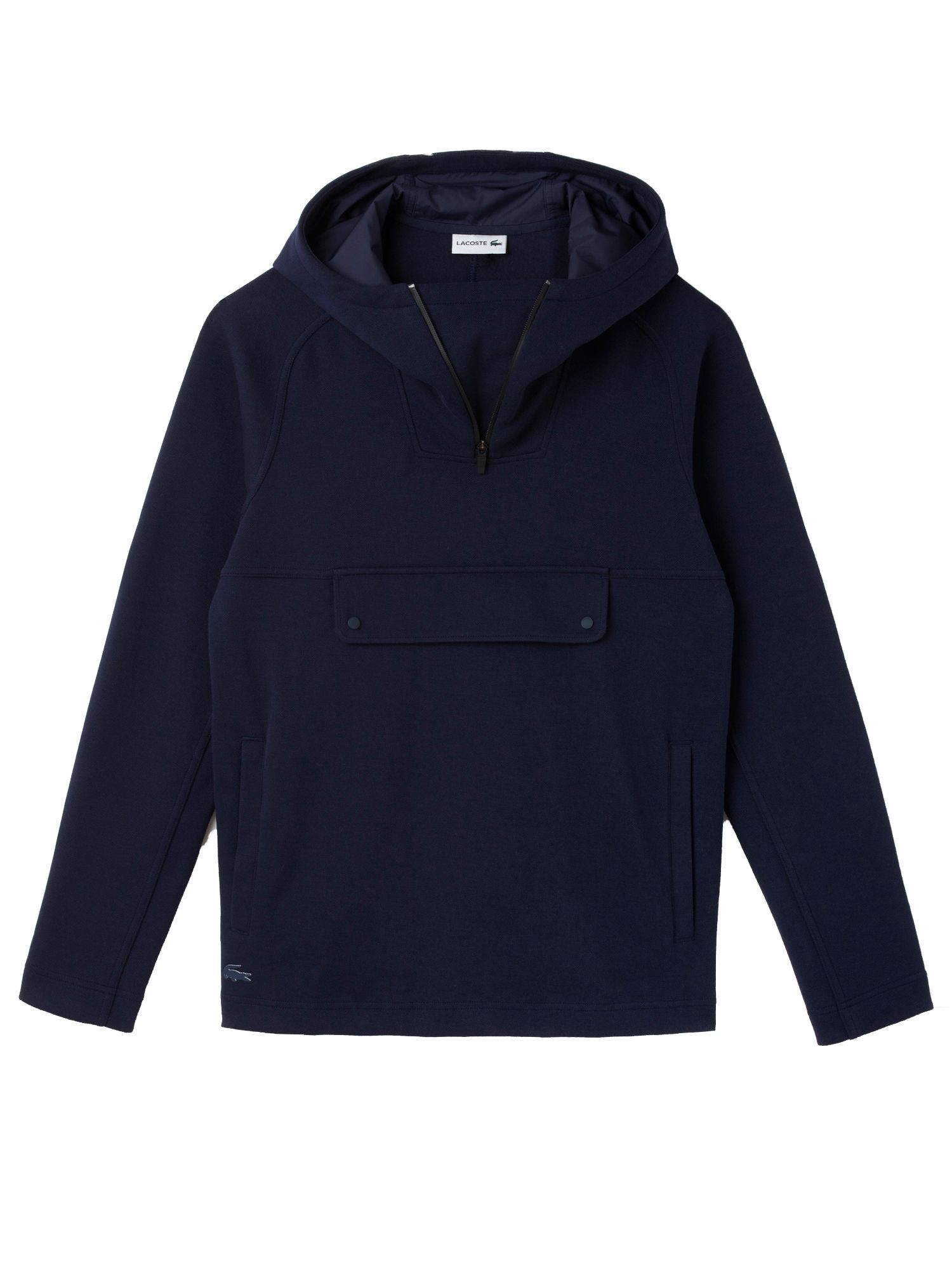 Men's Lacoste Technical Hoodie, Silver Chine