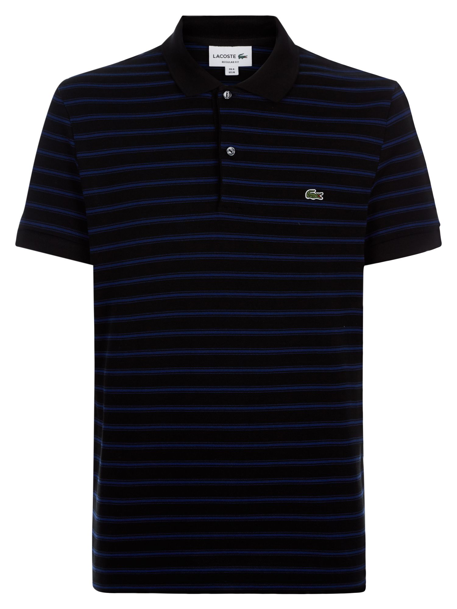Men's Lacoste Stripped Polo, Black