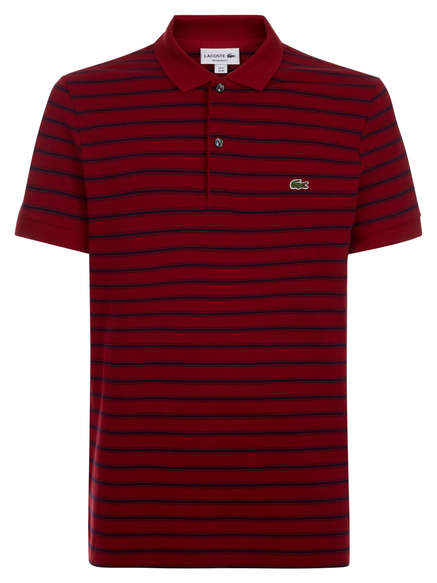 Men's Lacoste Stripped Polo, Turkey Red