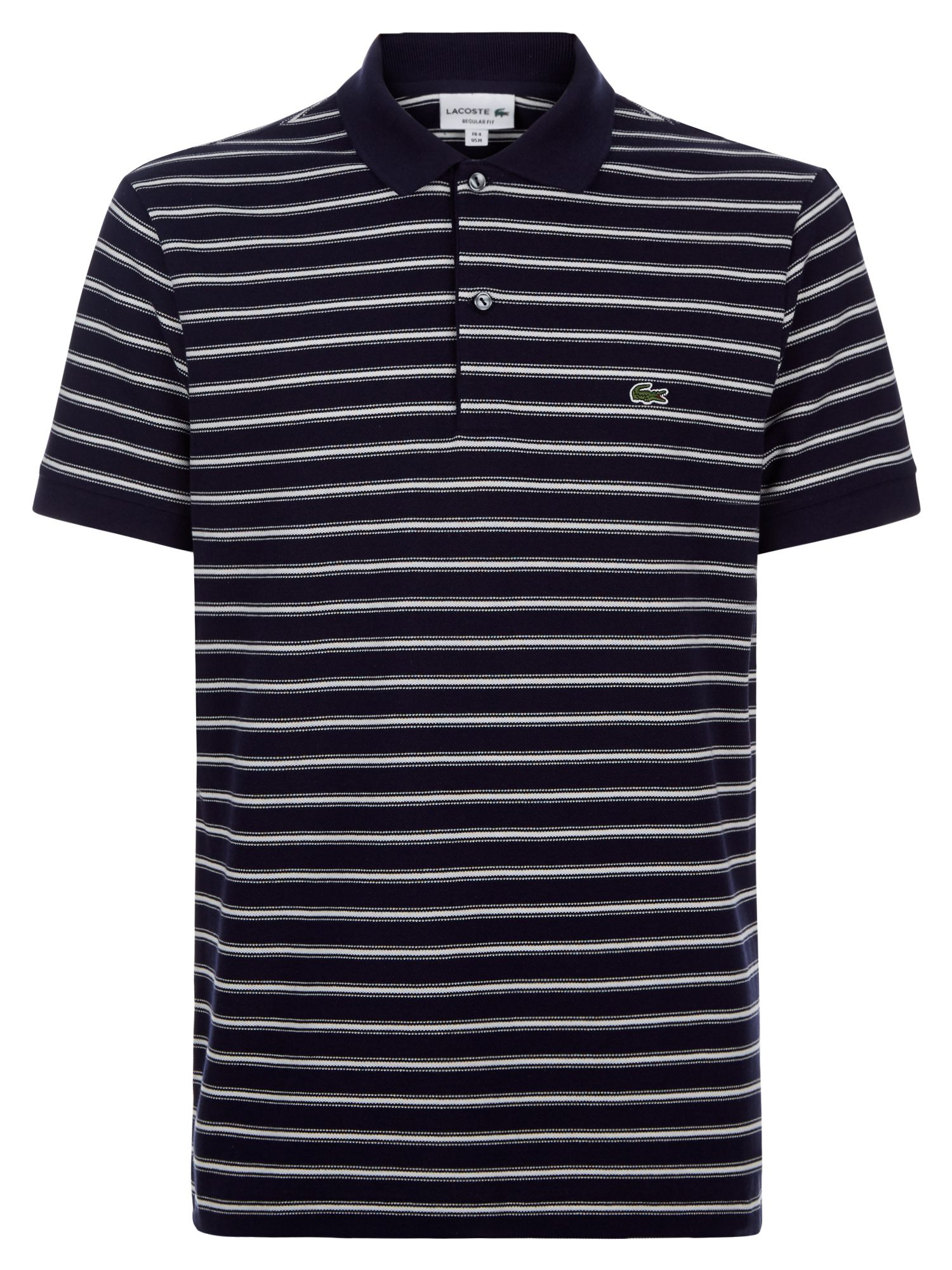 Men's Lacoste Stripped Polo, Blue Wash