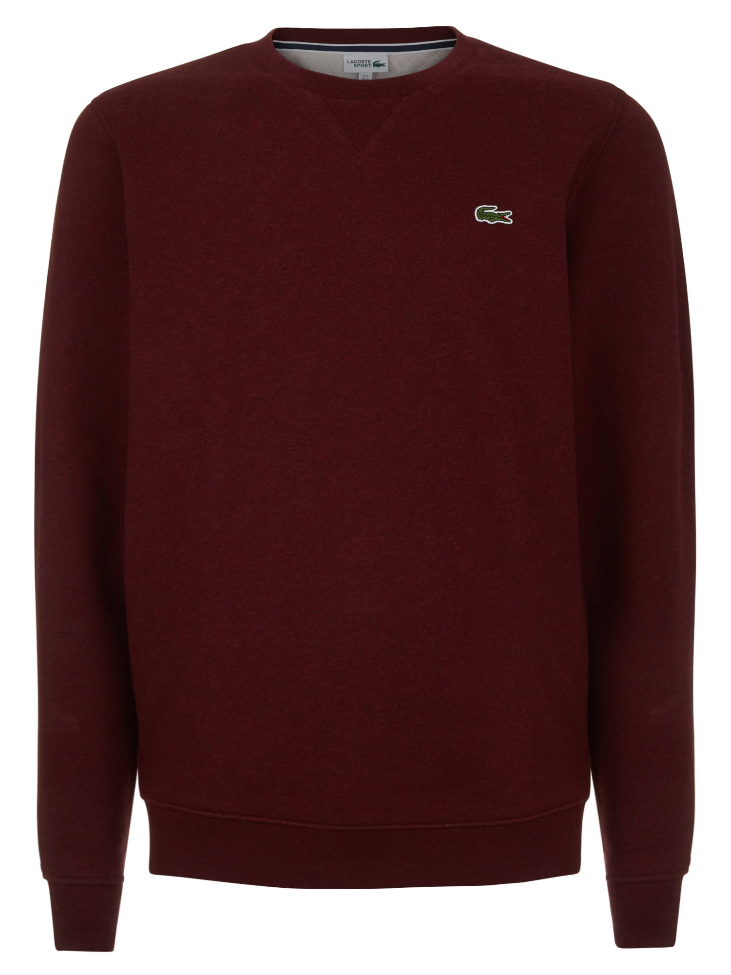 Men's Lacoste Lacoste Crew Neck Fleece Sweatshirt, Silver Chine
