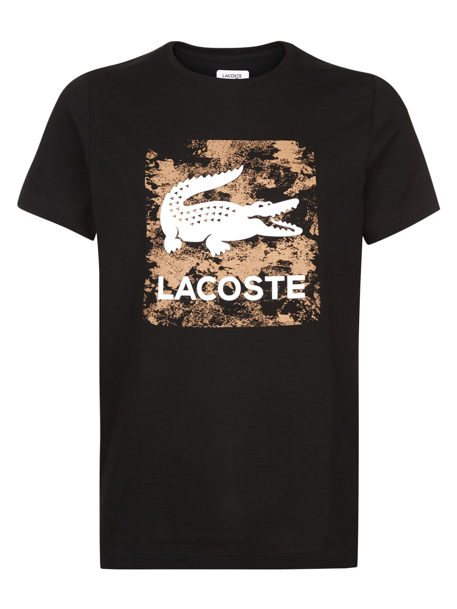Men's Lacoste Logo T-Shirt, Black & White