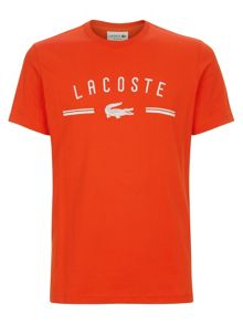 Lacoste Crew neck t-shirt with logo print