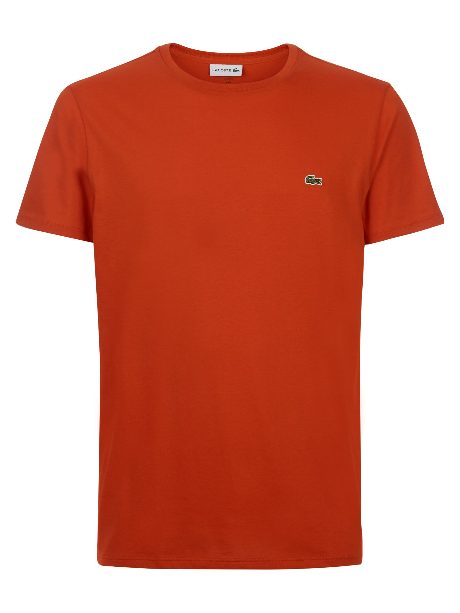 Men's Lacoste Crew Neck Cotton T-shirt, Colorado