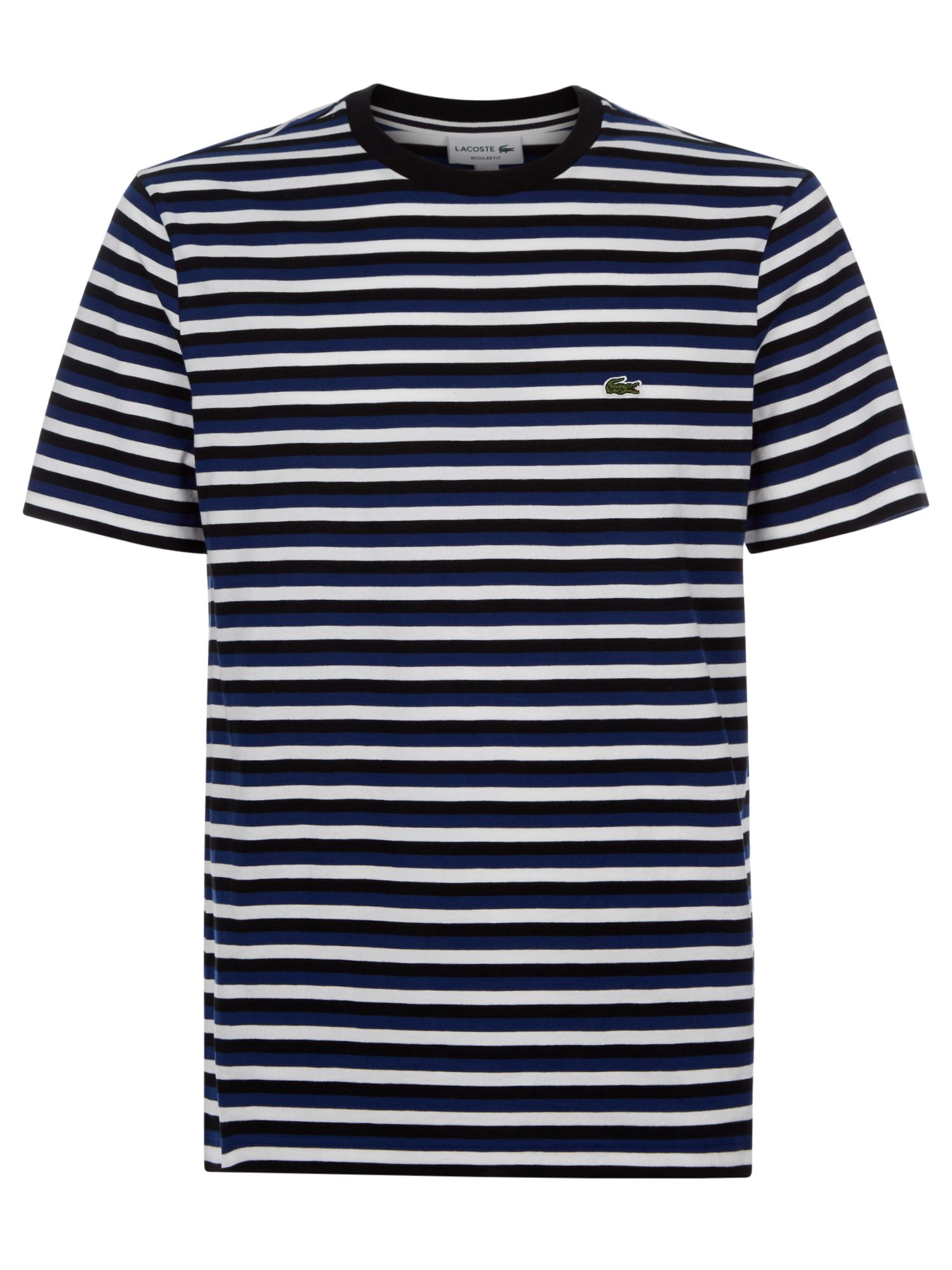 Men's Lacoste Stripped T-Shirt, Methylene