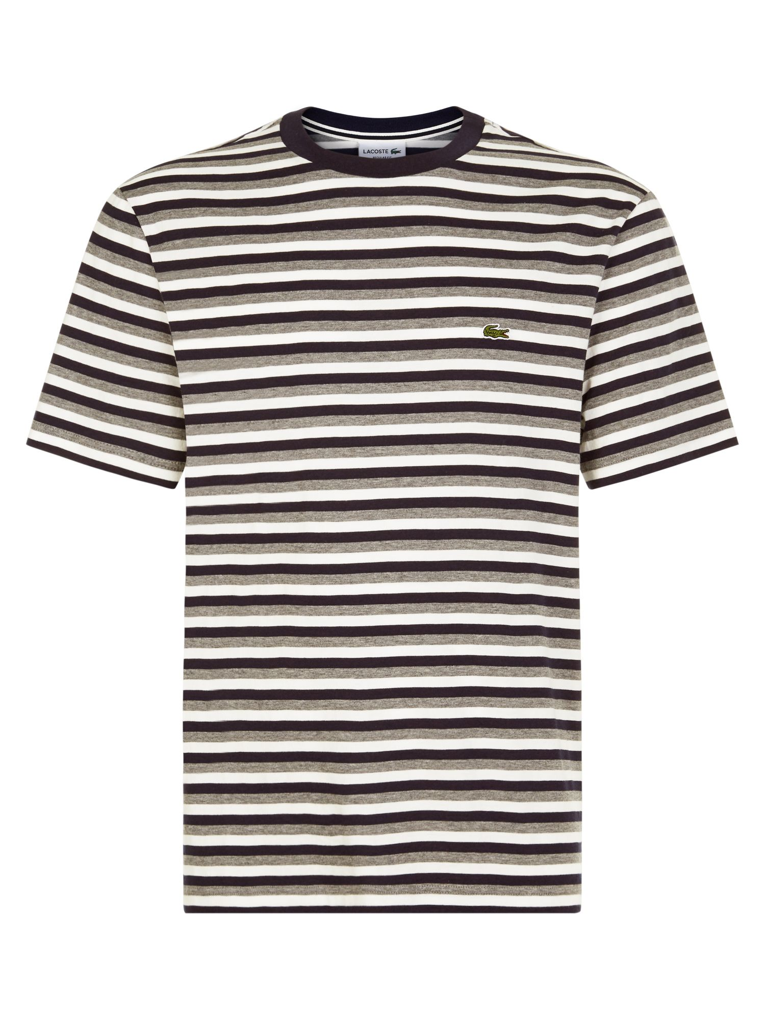 Men's Lacoste Stripped T-Shirt, Galaxite Chine
