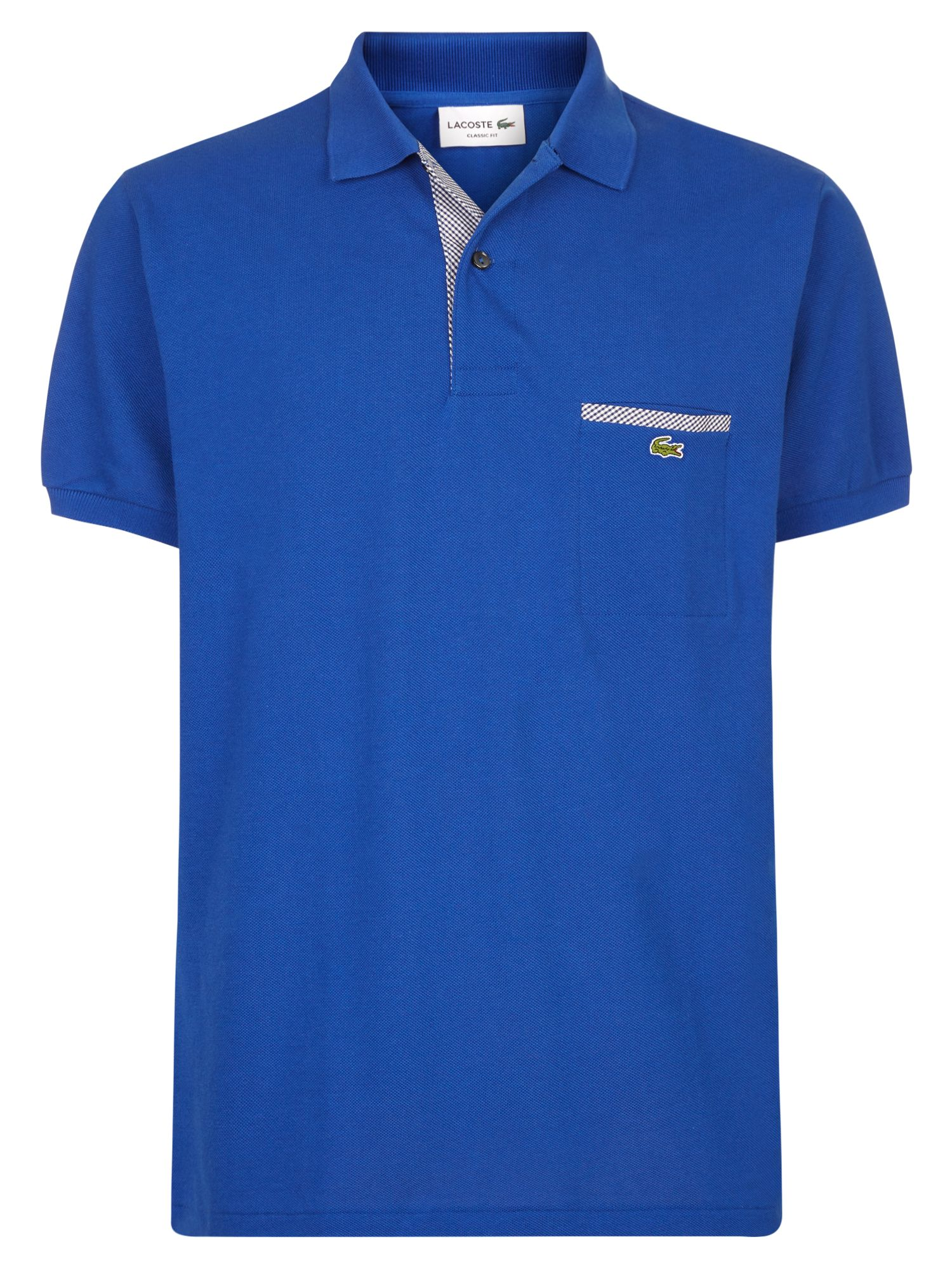 Men's Lacoste Contrast Pocket Polo Shirt, Steamer