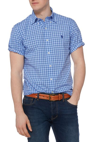 Polo Ralph Lauren Slim Fit Poplin Check Short Sleeve Shirt