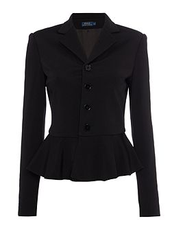 Button up peplum jacket