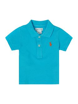 Baby Boys Mesh Polo with Polo Pony Logo