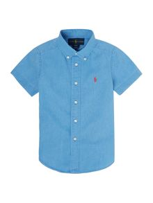 Polo Ralph Lauren Boys Short Sleeve Linen Cotton Shirt