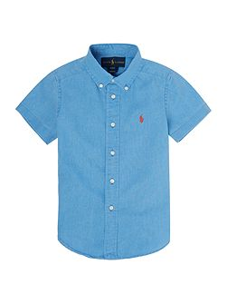 Boys Short Sleeve Linen Cotton Shirt