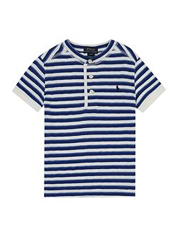 Boys Nautical Stripe Henley T-shirt
