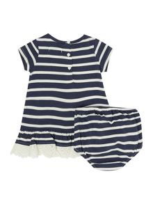 Polo Ralph Lauren Baby Girls Stripe dress with frill hem