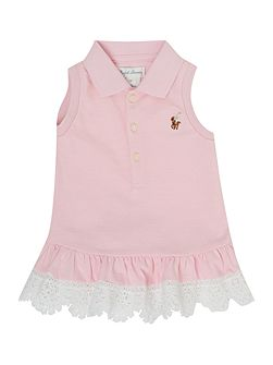 Baby Girls Polo Lace Hem Sleeveless Dress