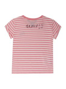 Polo Ralph Lauren Girls Stripe Polo Logo T-shirt