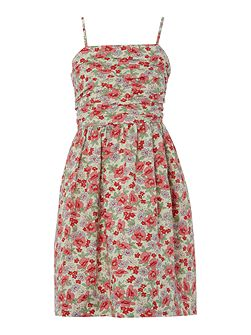 Girls Floral Print Dress