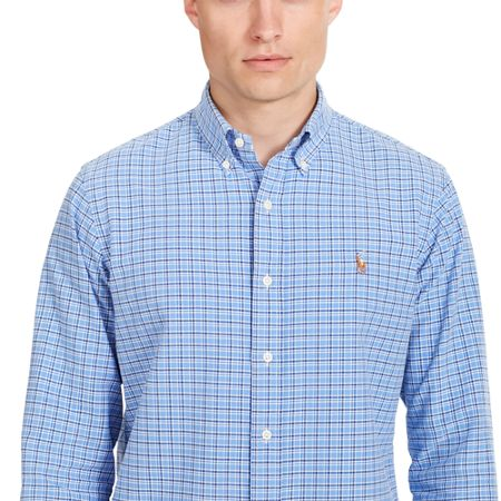 Polo Ralph Lauren Blue base windowpane long sleeve shirt