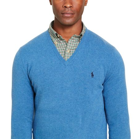 Polo Ralph Lauren V-Neck Luxury Merino Jumper