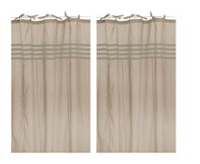 Marinette Saint-Tropez Arc ciel beige window curtains pair