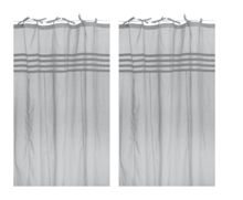 Arc ciel grey window curtain pair