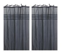 Marinette Saint-Tropez Arc ciel slate window curtain pair