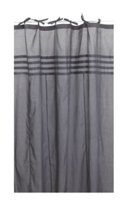 Marinette Saint-Tropez Arc ciel steel grey window curtain pair