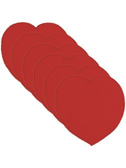 Romantica red heart placemat