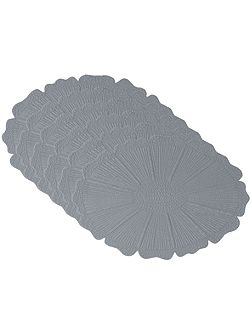 Sunflower steel grey placemat pack of 6