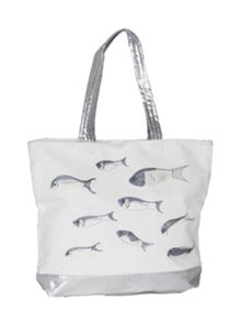 White Fishes Shopping Bag