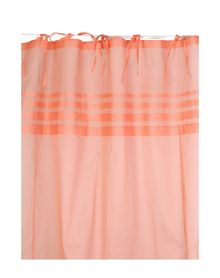 Marinette Saint-Tropez Arc ciel nectarine window curtains pair