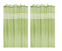 Arc ciel kiwi window curtain pair