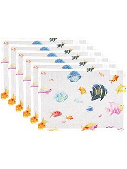 Bahamas multi placemat pack of 6