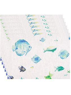 Bahamas lagoon napkin pack of 6