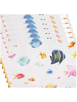 Bahamas multi napkin pack of 6