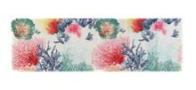Marinette Saint-Tropez Maldives White Multi Table Runner