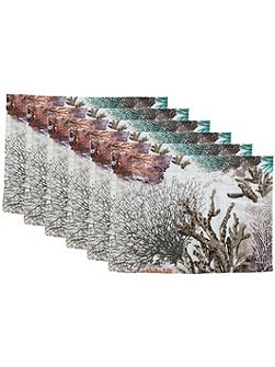 Maldives white fig placemat pack of 6