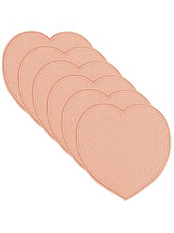 Romantica petal heart placemat pack of 6