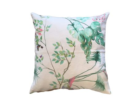Marinette Saint-Tropez Savana White Lagoon Cushion