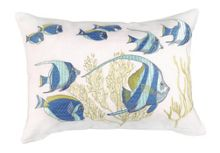 Marinette Saint-Tropez Embroided x9 Fishes Cushion